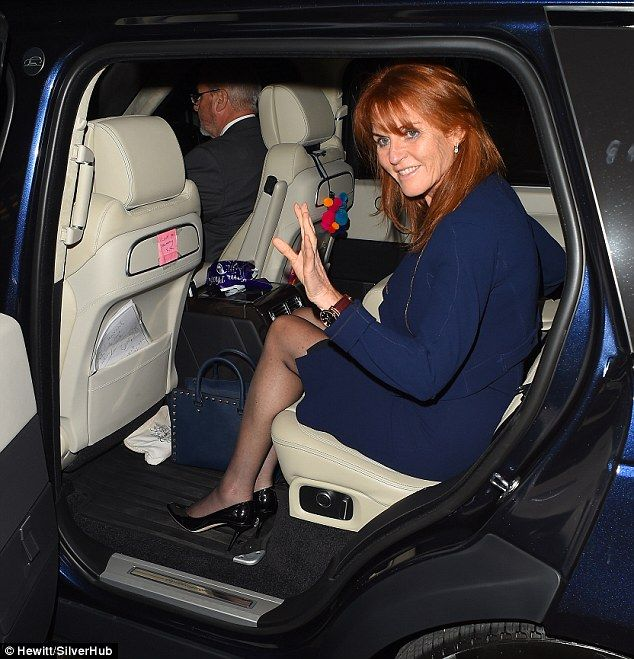 Spotted in the vehicle were some of Sarah Ferguson's personal possessions including a touching note left for her by her daughters