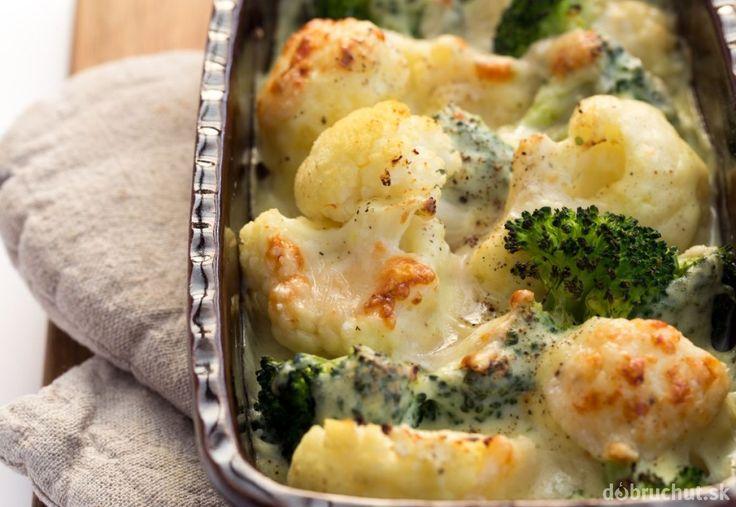 Karfiol a brokolica zapečená so syrom