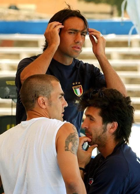 Alessandro Nesta, Fabio Cannavaro and Gianluigi Buffon                                                                                                                                                                                 Mais
