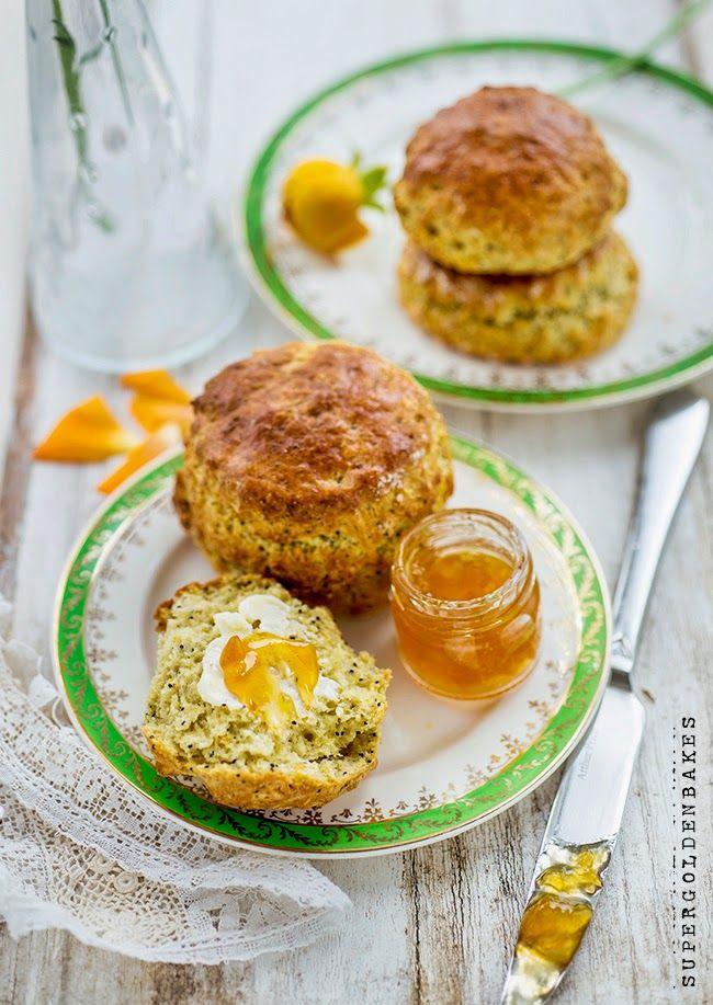 Orange poppyseed scones