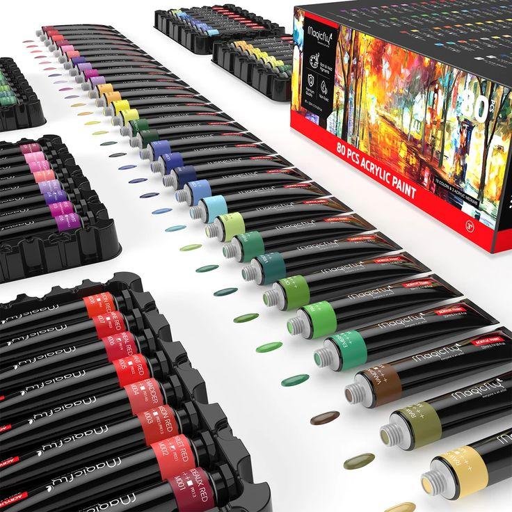 Acrylic premium artist paint 22ml tubes set of 80