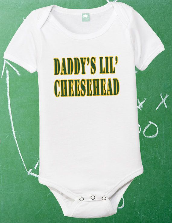 Green Bay Packers Onesie Packers Baby Shirt Infant Packer Fan 0-6 6-12 12-18  18-24 Month