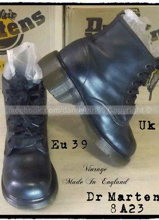 Dr Martens 8A23 noires  Uk6 Eu39  vintage  made in england  6 trous  non coquées   très bon état   Made In England #dandygirl65