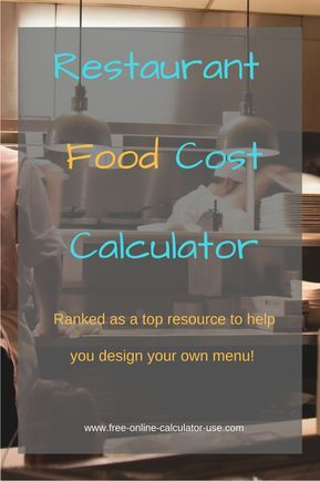 restaurant food cost calculator for portion and menu costing misc