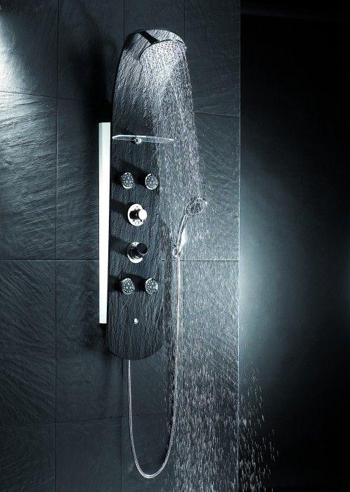 Colonne de douche NAUTILUS Ardoise Noire VALENTIN 513300 000 00 Proposé par eco-bricolage.com et tous les panneaux douche à jet hydromassage