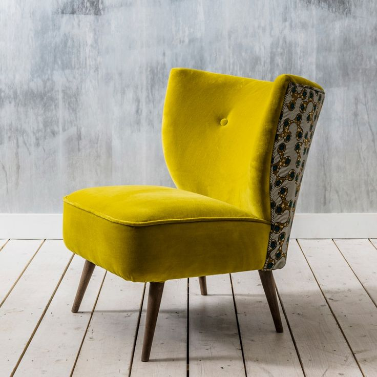 Alpana Yellow Velvet Chair
