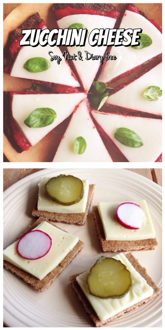 Zucchini Cheese Recipe - Use Agar Agar to make vegan. (Soya, Nut & diary Free, with a Vegan option)