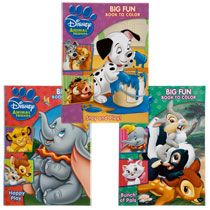 Bulk Disney Friends Big Fun Books To Color 96 Pages At DollarTree