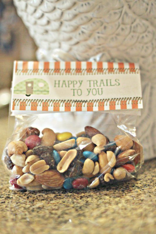 Cute Camping theme party favor - OR end of year treat for students!! http://www.scottyboyandkatygirl.com/2011/09/camping-inside.html