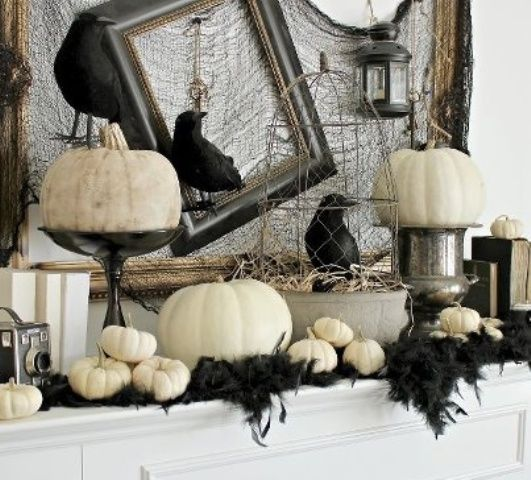 craftberry bush halloween mantle decorations home decorating trends homedit - 2017 Halloween Themes
