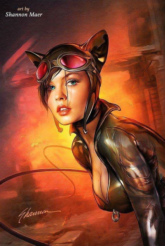 DC Comic Book Artwork • Catwoman by Shannon Maer. Follow us for more awesome comic art, or check out our online store www.7ate9comics.com