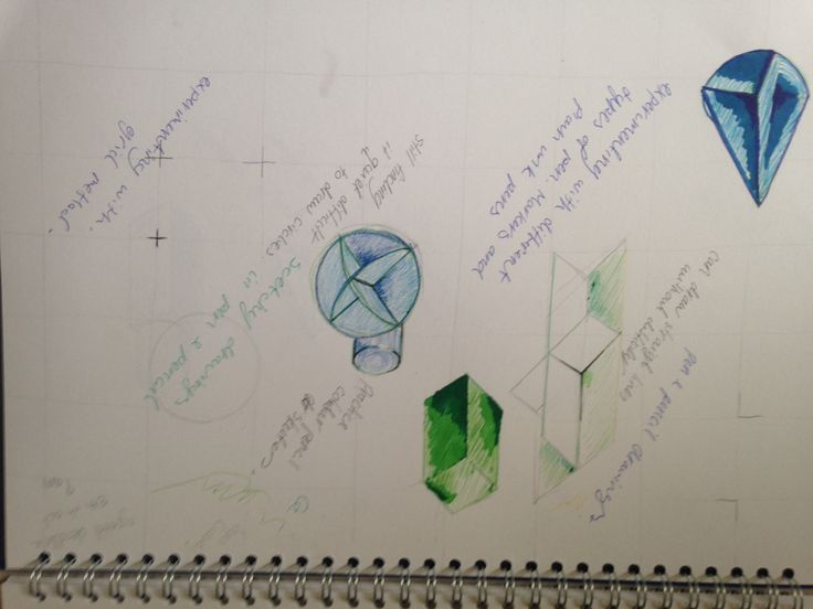 Practice drawings of shapes all medias