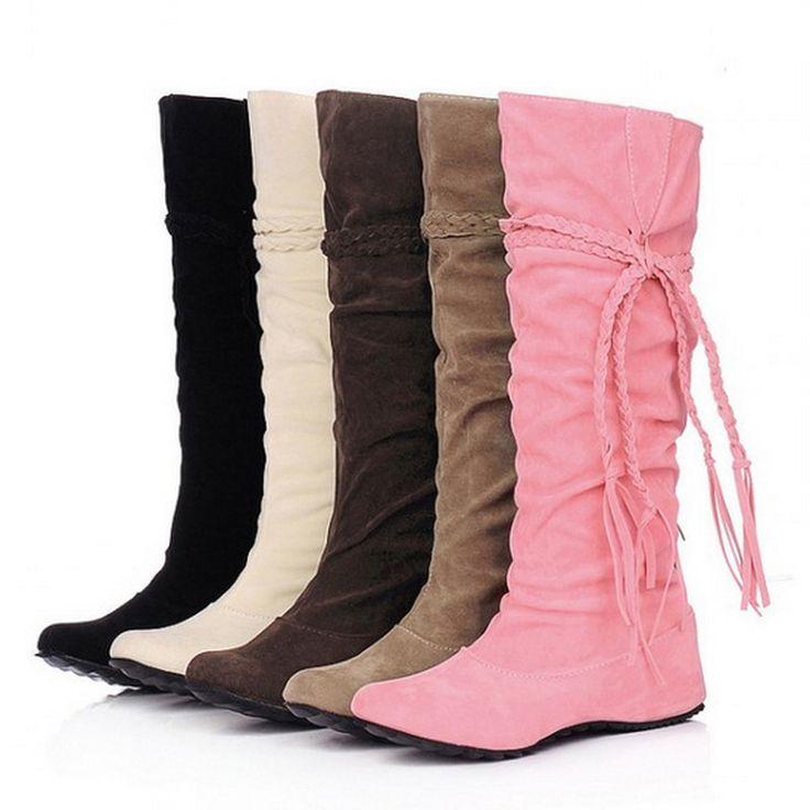 $35.99 (Buy here: https://alitems.com/g/1e8d114494ebda23ff8b16525dc3e8/?i=5&ulp=https%3A%2F%2Fwww.aliexpress.com%2Fitem%2F2015-Big-Size-34-43-Fashion-boots-Tassel-Sweet-style-Women-Boot-Knee-High-Snow-Boots%2F32497521992.html ) 2015 Big Size 34-43 Fashion boots Tassel Sweet style Women Boot Knee High Snow Boots Warm Winter Shoes AA013 for just $35.99