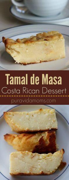 Una rica receta en español para un postre de semana santa, el tamal de masa estilo costarricense. A delicious Holy Week recipe, Costa Rican style.