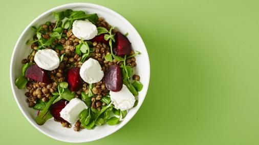 BBC Food - Recipes - Beetroot, lentil and goats' cheese salad