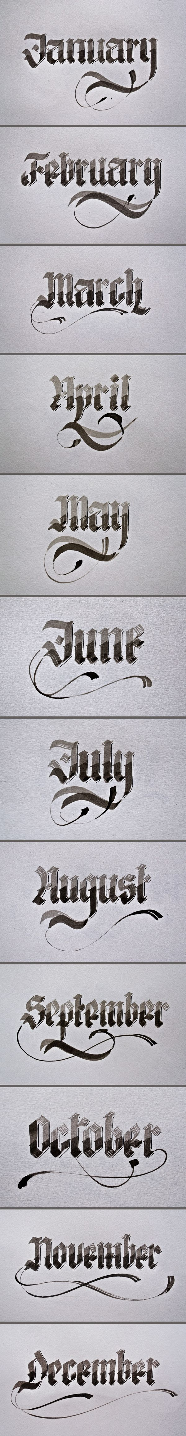 Calligraphy by Renato Molnar, via Behance. @Frances Doyle, this made me think of you!