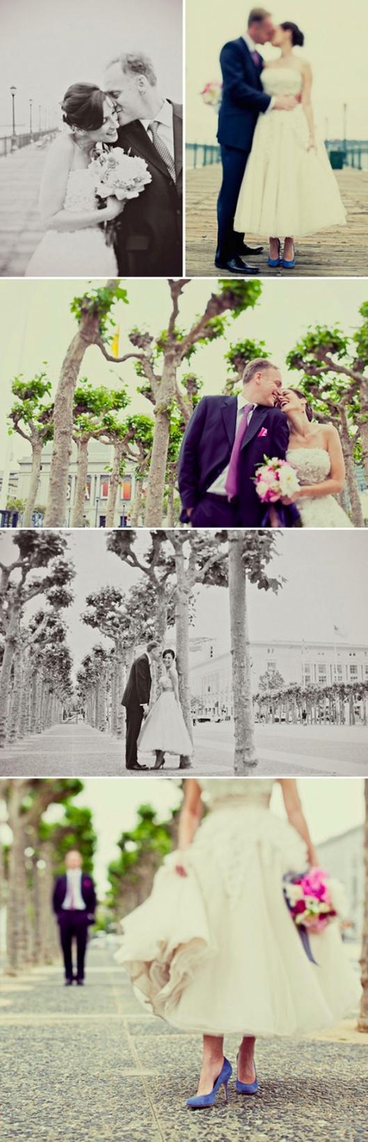 modern wedding - san francisco city hall