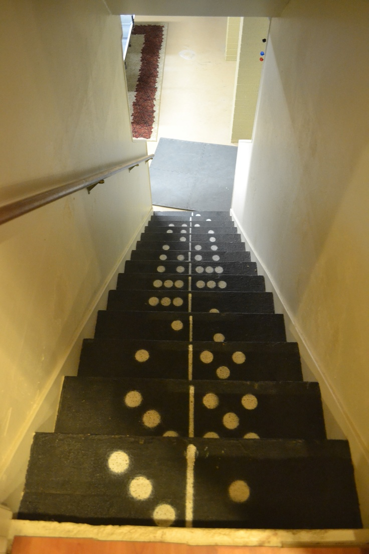 Domino Stairs...fun for maybe going into the basement or gameroom