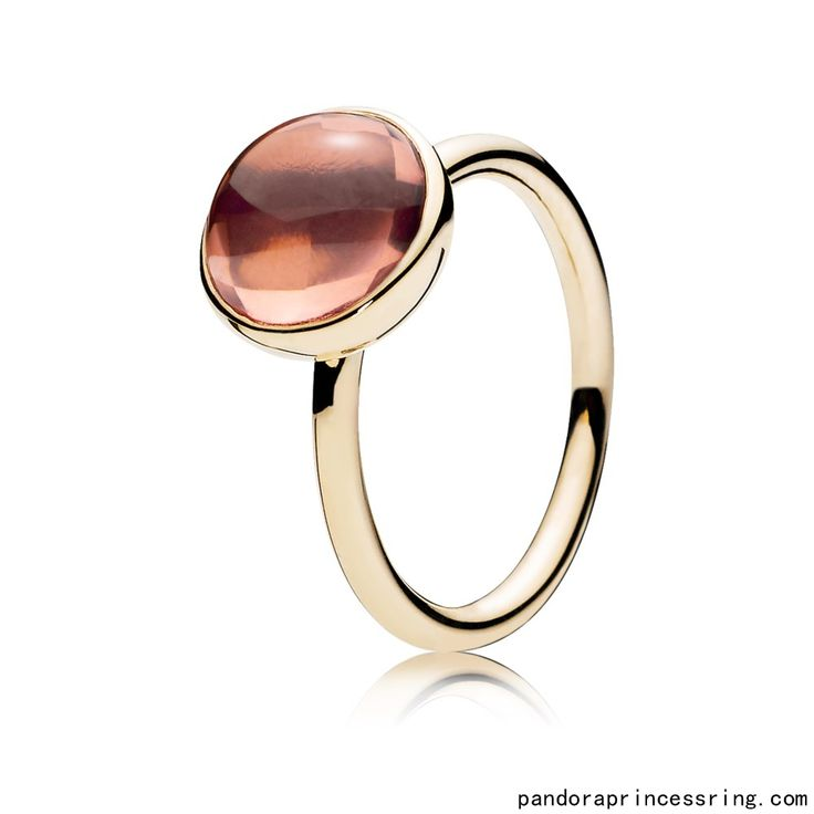 http://www.pandoraprincessring.com/pandora-rings-sale-clearance-uk/Best-Pandora-Ring-Poetic-Droplet-14K-Gold-Blush-Pink-Crystal-Original