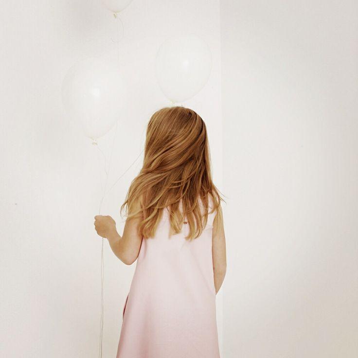 Kids fashion pink dress