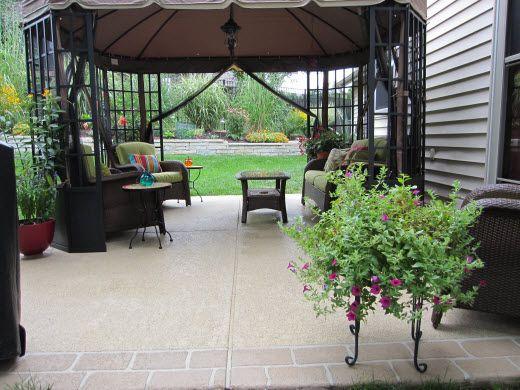 36 best new patio images on pinterest   backyard ideas ... - Patio Refinishing Ideas
