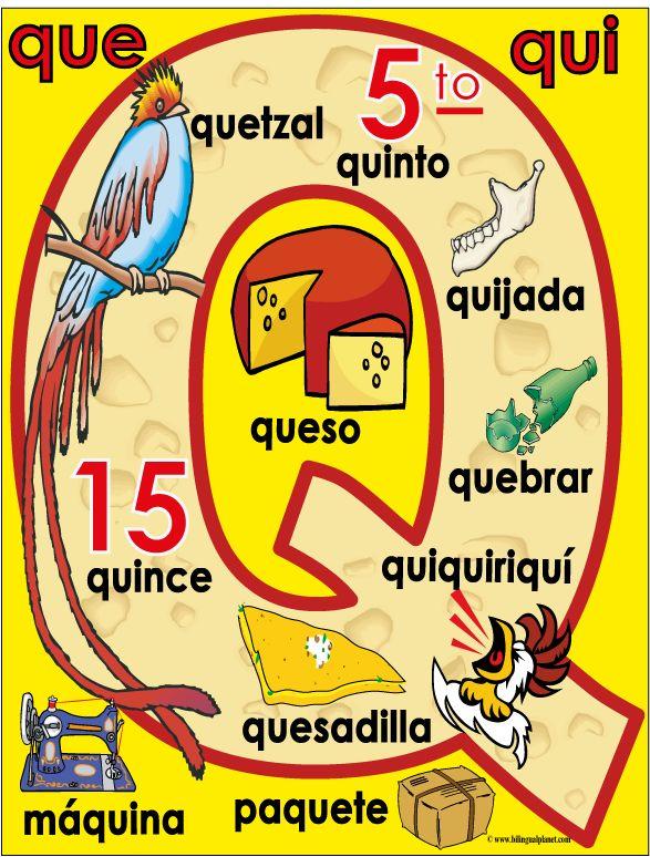 Large Spanish Alpha-Poster - Bilingual Planet