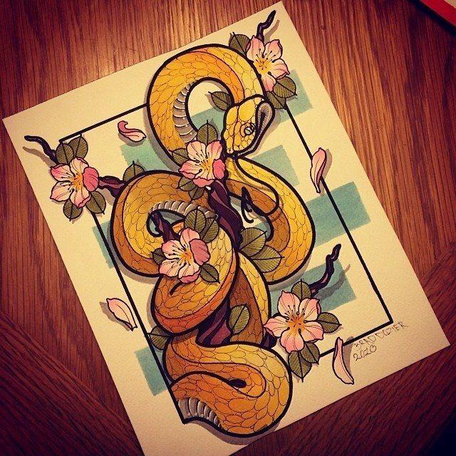 Snake #tattoo