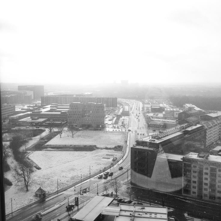 Amager, Copenhagen, on a snowy day.