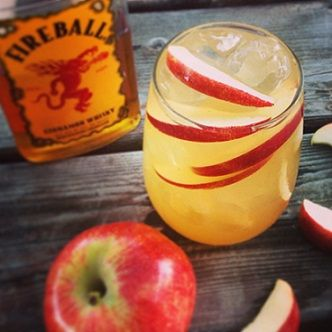 Fireball Cider Cocktail Recipe |whatscookingamerica.net #fireball #cider #cocktail #whiskey