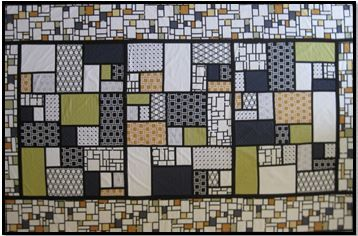 Inspired by the Artist Piet Mondrian, this is a fabulous Quilt As You Go single or queen size quilt using Bias Strips as the secret for success. Learn to tackle a large project in smaller easier to handle pieces.