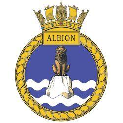 HMS Albion badge - HMS Albion (L14)
