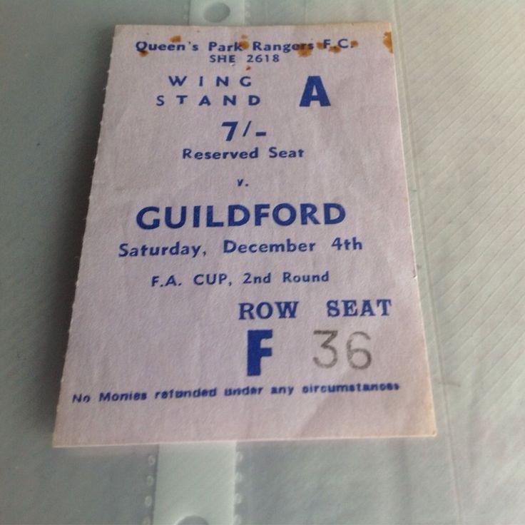 QPR v Guildford city fa cup ticket