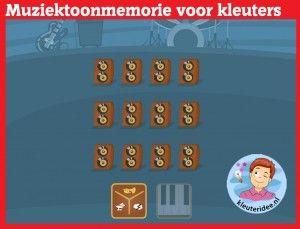 Muziektoonmemorie voor kleuters op digibord of computer op kleuteridee, Kindergarten educative music memory games for IBW or computer