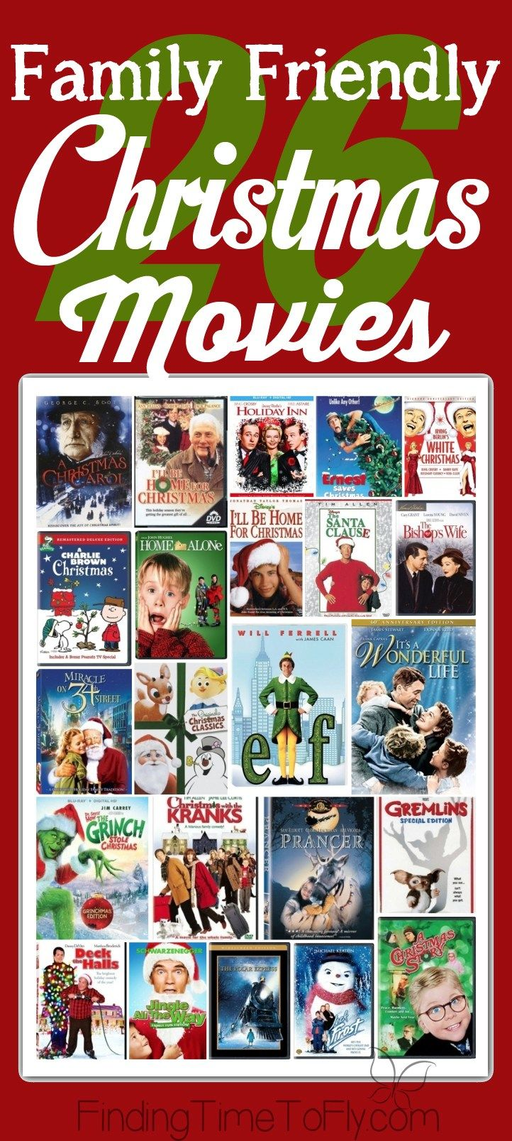 26 Family Friendly Christmas Movies Christmas Movies Family Christmas Christmas Holidays