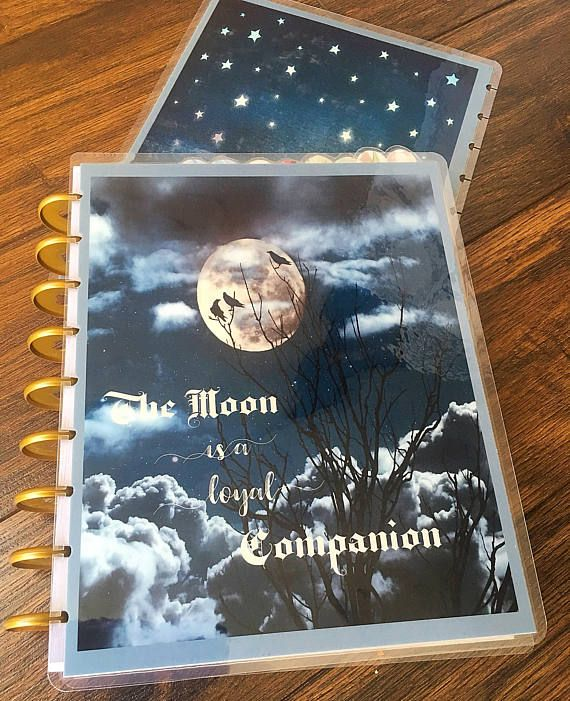 The Moon is a loyal Companion Front and back cover for HP and