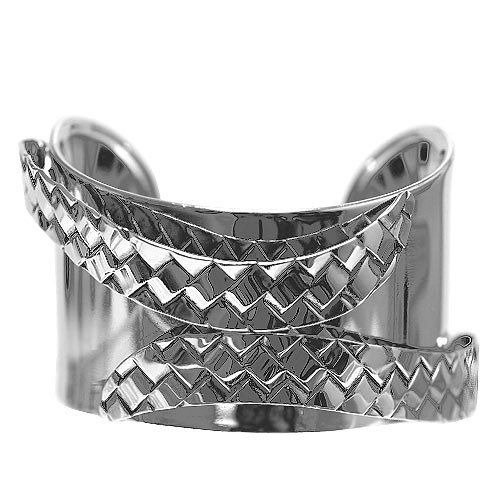 "Fashion Metal Cuff; 1.5"" L; Silver Metal; Eileen's Collection. $19.99. Save 50%!"