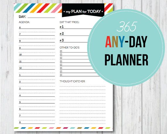 daily agenda planners
