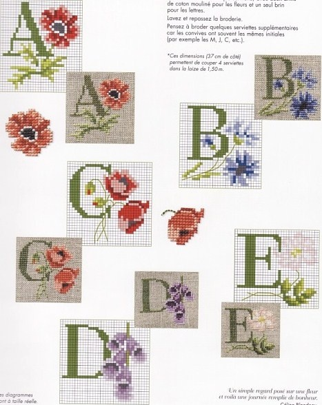 lettres fleuries  1.