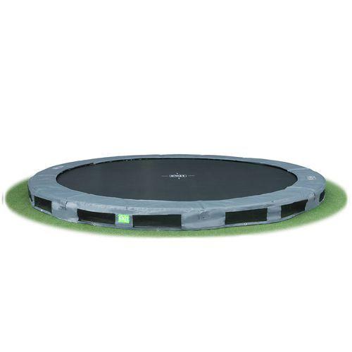 Tilaa hyppiä! Exit Interra on loistavan näköinen 4,3m leveä maahan upotettava trampoliini!