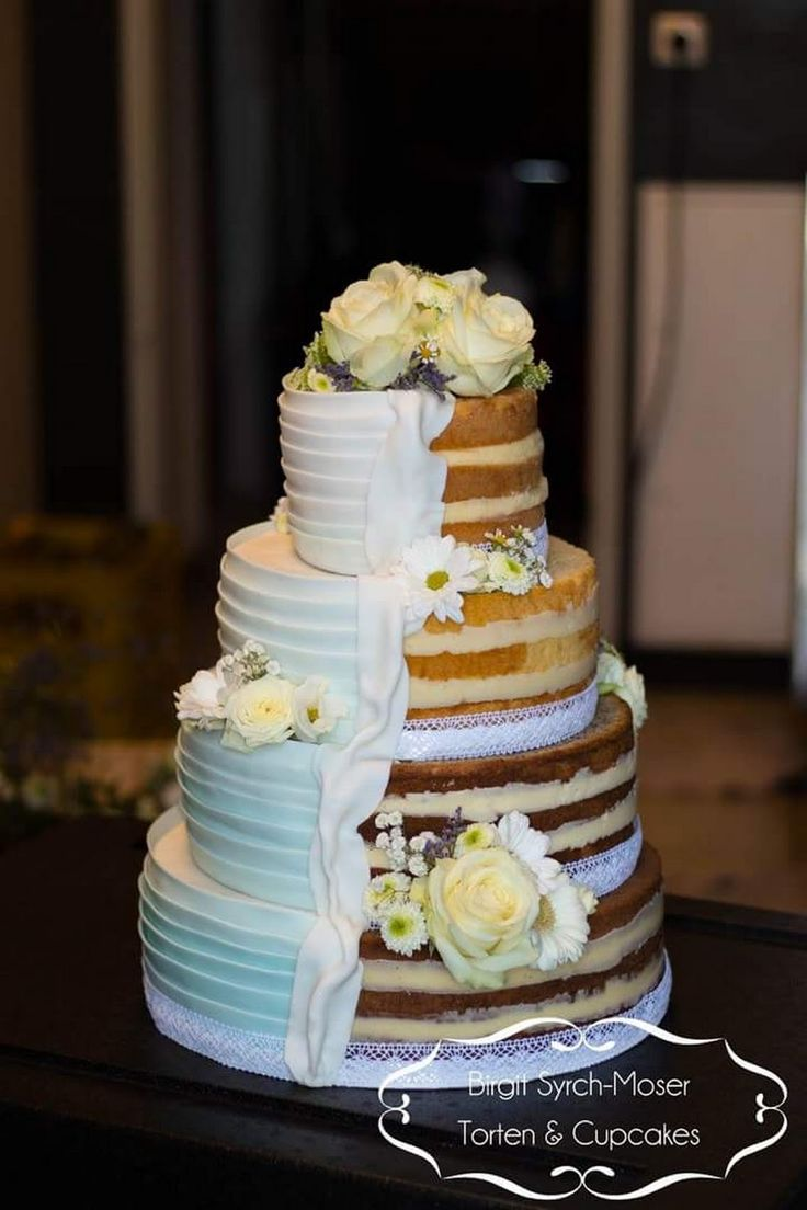 Wedding Cake, Wedding Cake with sugar ruffles, Naked Wedding Cake - Birgit Syrch-Moser - Google+