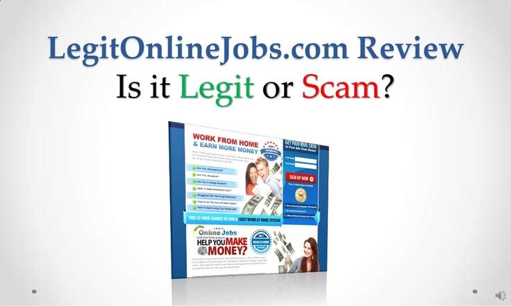 legit-onlinejobs-com-review-legit-or-scam by Sandeep Iyengar via Slideshare