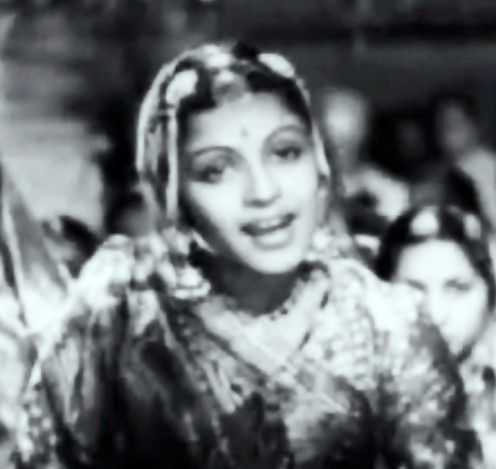 M S Subbulakshmi in Meera, her only movie in Bollywood, where she acted as well as sang her bhajans, giving Bollywood a taste of great Kanatik classical music
