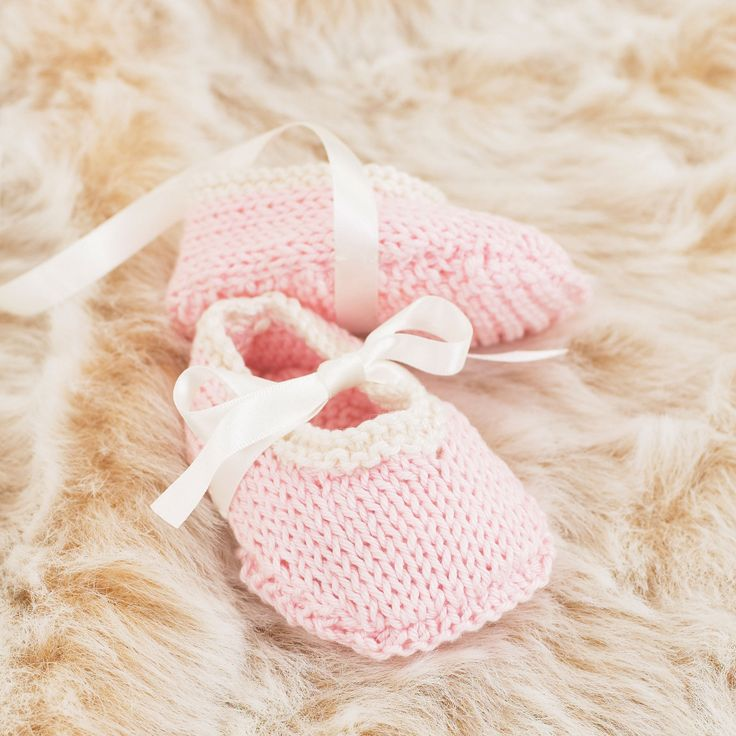 The Little Tutu shoes - knitted in Sublime Egyptian cotton dk