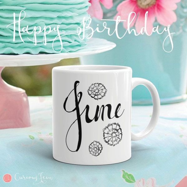 June Birthday Mug – Graphite Sketch Collection – Coffee Mug #coffee #mug #coffeemug #birthday #birthdaygifts #june