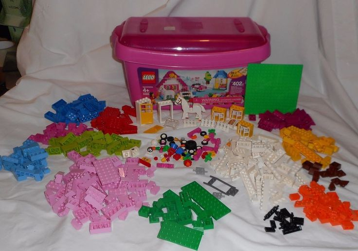 Lego Pink Building Blocks Pieces 5560 Box Incomplete Set Lot 2006 Classic #Lego