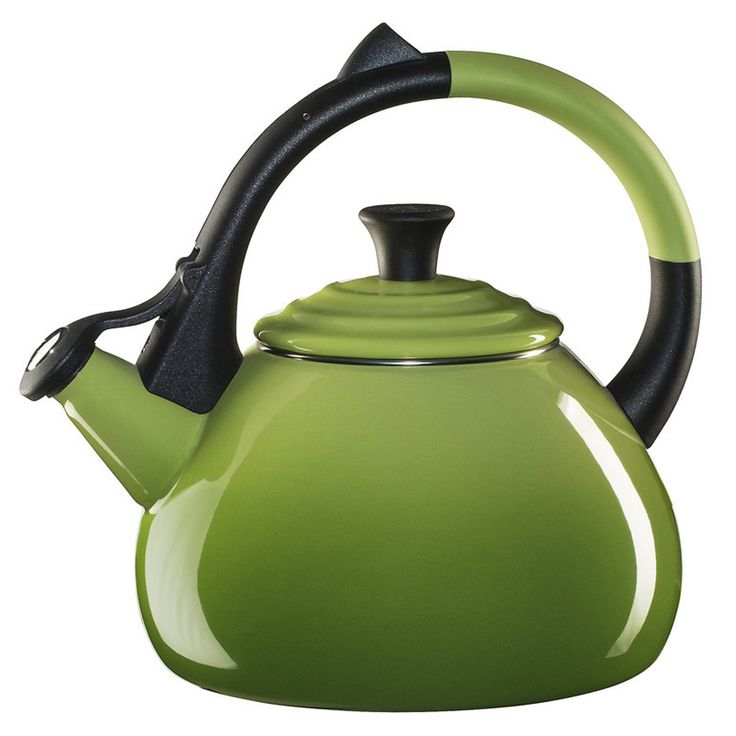 Le Creuset Enameled Steel Oolong Tea Kettle, 1.6-Quart, Palm