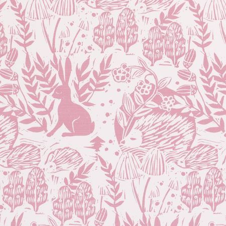Fabric - Clarke & Clarke - Hedgerow pink - Available from Clark & English