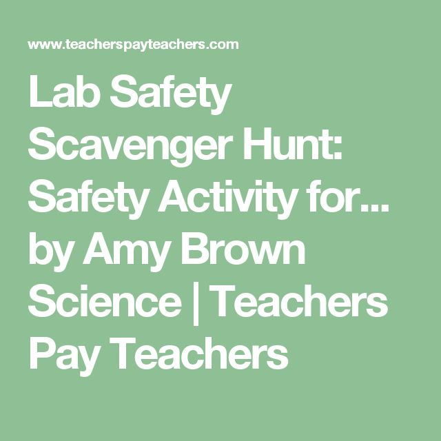 Lab Safety Scavenger Hunt: Safety Activity for... by Amy Brown Science | Teachers Pay Teachers