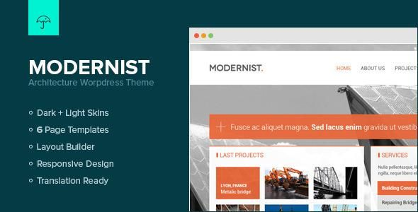 Modernist is a beautiful wordpress theme made for people who need a great presentation of their work/company. We tried to bring something different on the market. High quality theme, that can be adapted easily for lot of work fields.