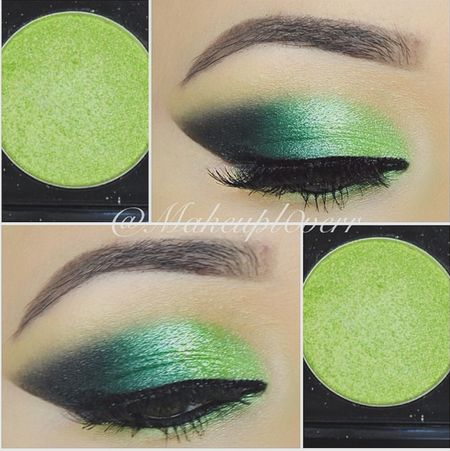 Different Shades of Bright Green Eye Shadow... Gorgeous!